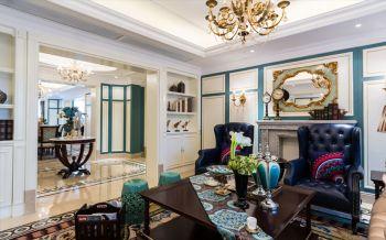 客厅白色门厅美式风格装饰设计图片