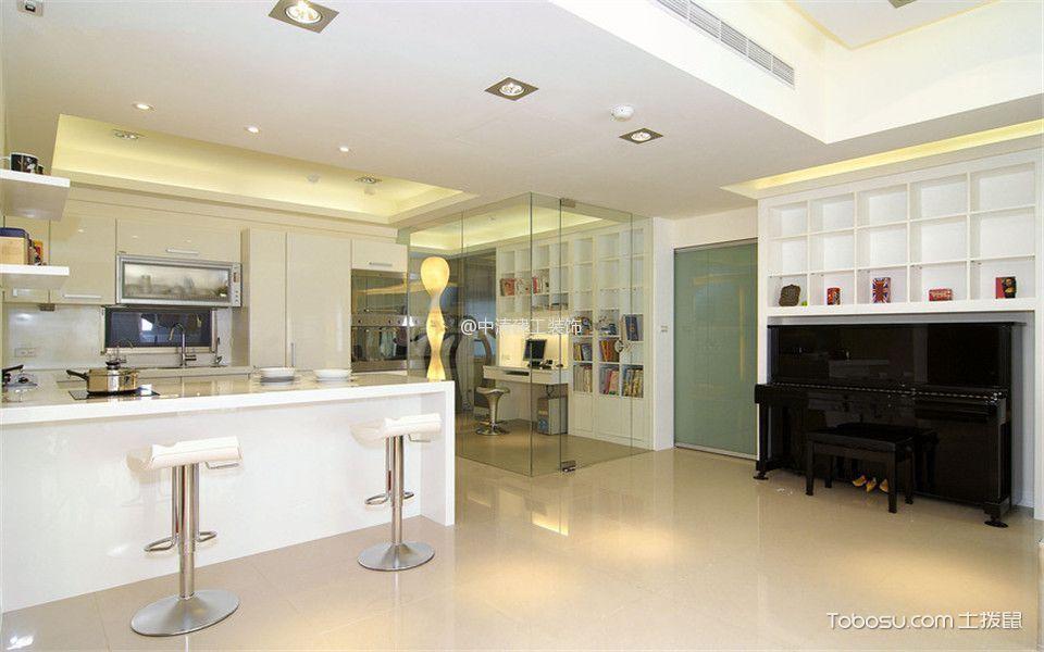 风格待遇_简约吧台120平米三室两厅室内装修效果图浙江天和建筑设计厨房图片