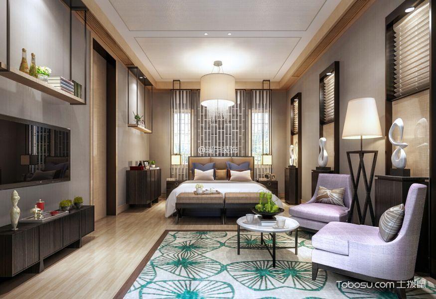 卧室_新中式风格120平米3房1厅房子装饰效果图