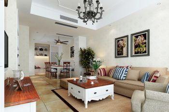 白色地中海风格三居室装修案例图
