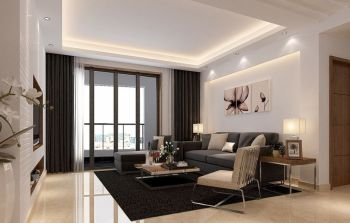 现代简约风格122平三居室家庭装修案例图
