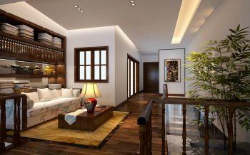 中式风格复式别墅装修效果图