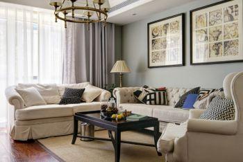 欧式田园风格90平米2房1厅房子装饰效果图