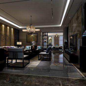 客厅灰色走廊中式风格装饰效果图
