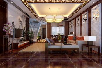 合生国际中式别墅装修效果图案例