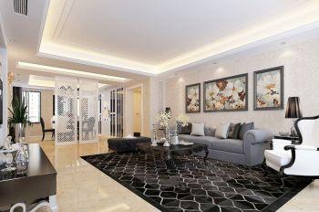现代欧式风格三居室家庭装修效果图案例