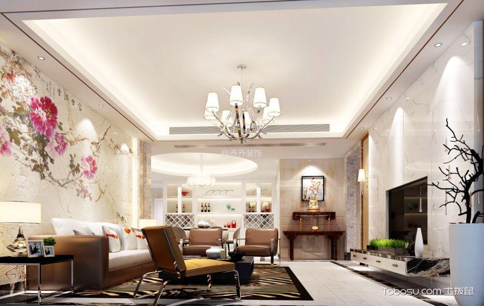 欧式风格120平米3房1厅房子装饰效果图-土拨鼠装修