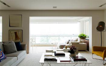 客厅门厅现代简约风格装潢设计图片
