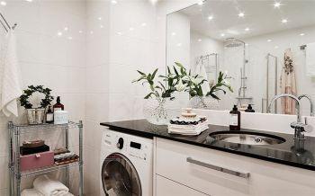 卫生间白色洗漱台北欧风格装饰图片