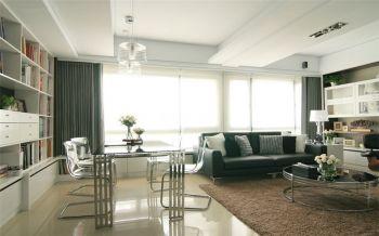 现代简约风格简单二居装修效果图