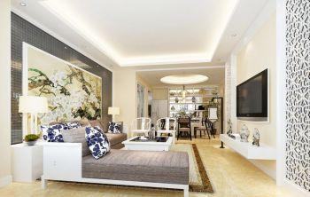 新中式风格四居室家庭装修案例效果图欣赏
