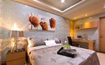 卧室黄色书桌现代风格装修设计图片