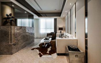 客厅白色地砖现代风格装修图片