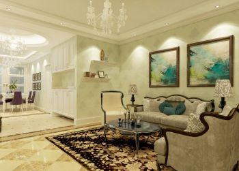 清新欧式田园风格二居室装修效果图
