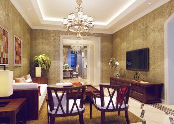 欧式风格108平米家庭公寓装修效果图