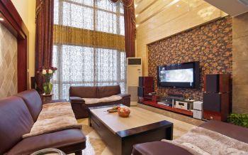 现代欧式风格120平米3房1厅房子装饰效果图
