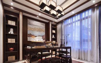 中式风格豪华复式别墅装修效果图