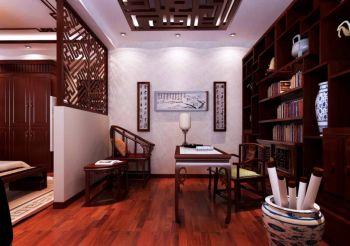 中式风格102平米二居室装修效果图