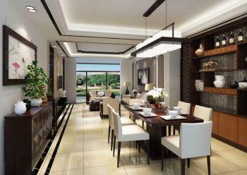 翠屏城博恩花园简中式二居室装修效果图