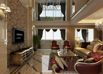 欧式风格两层楼房装修效果图