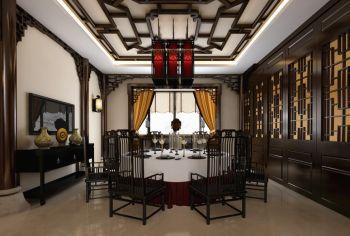 中海国际中式古典风格豪华别墅装修效果图