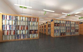 市图书馆书架装修效果图