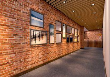 复古西餐厅照片墙装修效果图
