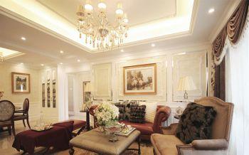 客厅黄色灯具欧式风格装修设计图片