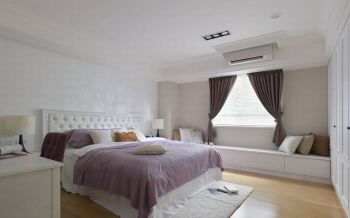 白色简欧风格三居室家装案例图片