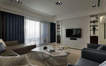 新古典简单搭配三居室装修案例图