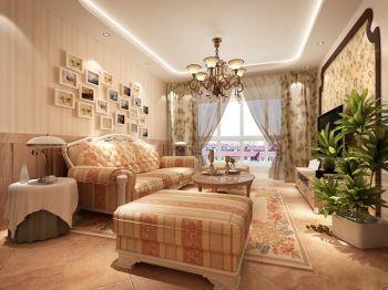 田园风格100平米2房1厅房子装饰效果图