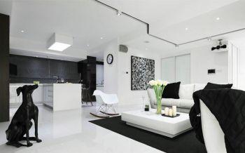 现代简约风黑白配色三居装修效果图