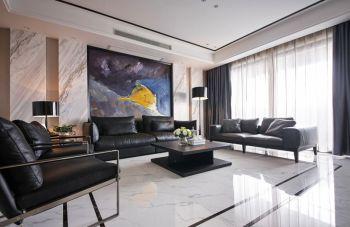 亚东同城逸境现代风格三居室装修案例图