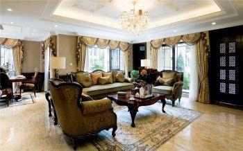 华城花园美式风格三居室装修效果图