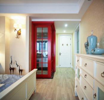 卧室黄色走廊混搭风格装潢设计图片