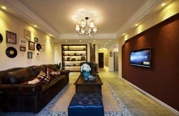 六合浅山美式风格三居室装修案例图