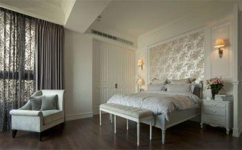 卧室白色细节美式风格装潢效果图