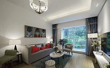 现代风格清淡雅致二居室装修案例图