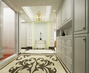 玄关白色吊顶简欧风格装潢效果图