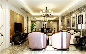 客厅白色灯具欧式风格装饰设计图片