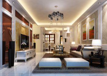 金域蓝湾现代欧式风格二居室家装效果图