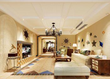 宁波青林湾美式田园风三居室装修效果图