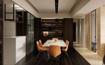 餐厅咖啡色地板砖简约风格装潢效果图