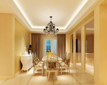 宁波风景九园欧式二居室装修效果图