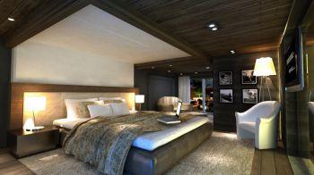 卧室灰色床头柜现代风格装饰图片