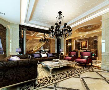 欧式风格180平米4房1厅房子装饰效果图