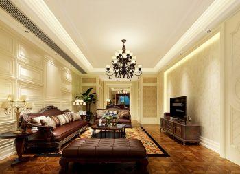 皇冠花园二期欧式四居室装修效果图