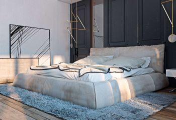 卧室白色床北欧风格效果图