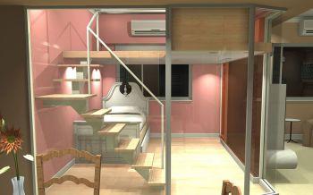 现代简约风格50平米时尚双人公寓装修效果图