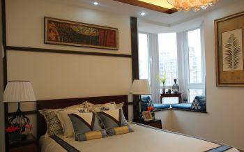 卧室蓝色榻榻米混搭风格装潢设计图片